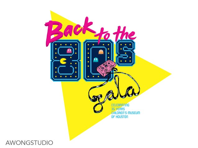 Children's Museum of Houston Back to the 80s Galal Logo