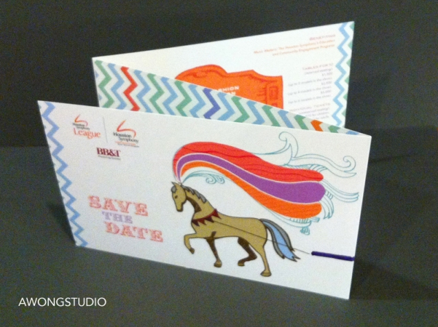 Design of event Invitation and stationery. The modern take on the vintage circus theme came from the 100-year anniversary and The Greatest Show on Earth theme.