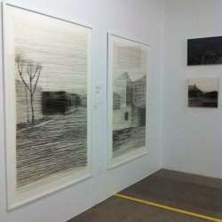 Large Charcoal on Paper drawings: Discovering the Cave (R)