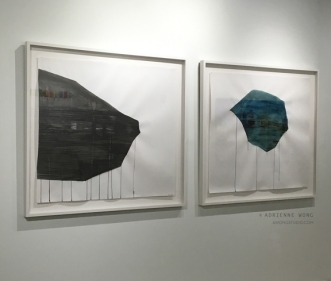 "Day To Night, 7803 Miles from Washington Ave to Mission Bay, charcoal and ink on paper, 53""x49"" each"