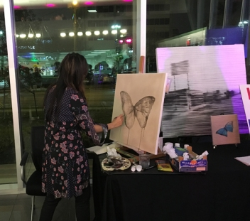 Live painting at Elijah Rising charity event, Audi Central, 2016