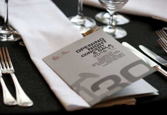 Photo of ONG Program on table
