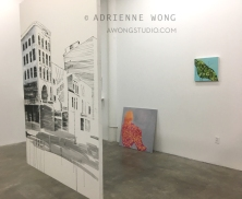 Solo show, Finding Spaces: Urban/Nature (Houston, I Love You) [suspended painting], We Talked Until the Sun Set, Bayou Butterfly